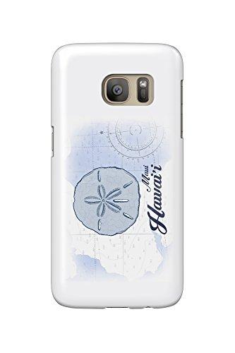 Maui, Hawaii - Sand Dollar - Blue - Coastal Icon (Galaxy S7 Cell Phone Case, Slim Barely - Maui Dollar