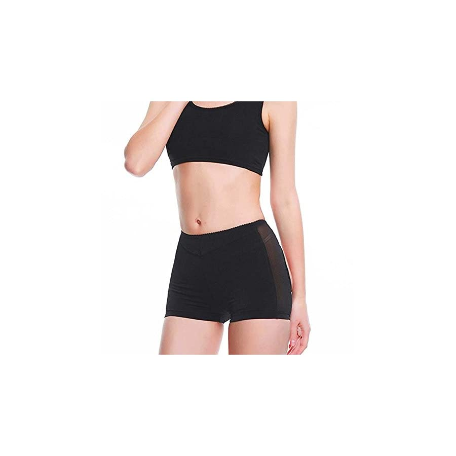 Junlan Hot Womens Butt Lifter Boy Shorts Shapewear Butt Enhancer Control Panties Black