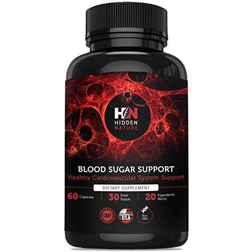 Blood Sugar Support Supplements - Top Blood Sugar Stabilizer & Glucose Support, Insulin Resistance & Cholesterol Control with Natural Cinnamon, Mulberry, Bitter Melon