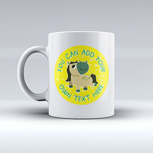 V6 Pony (Personalised Adorable Little Pony V6 Ceramic Mug - Any Name/Message - High Resolution Print)