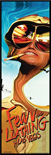 Fear and Loathing in Las Vegas Dark Comedy Drug Movie Film Framed Poster Print 12x36 ()