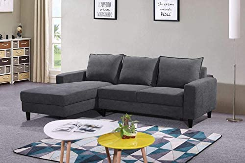 Container Furniture Direct Pamila Modern Fabric Upholstered Living Room Sectional