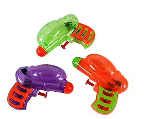 Fun Express Neon Grip Squirt Guns - 12 Pieces