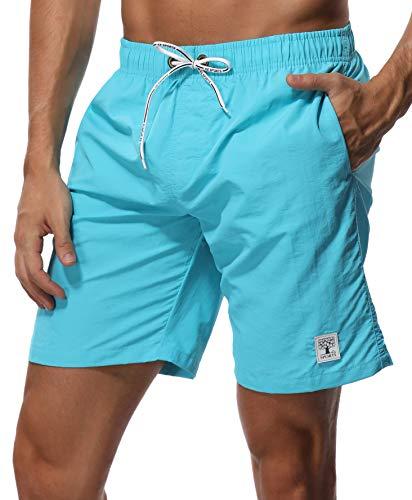 (SHEKINI Men's Swim Trunks Short Quick Dry Slim fit Lightweight (XX-Large (Waist:36