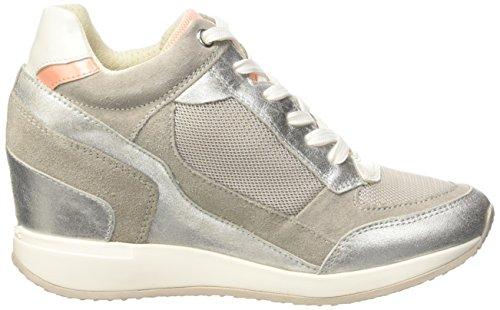 Geox D Nydame A - Zapatillas de deporte Mujer Gris (C1010)