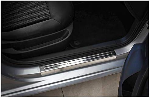 Farbe:Silber tuning-art XF513-1 Edelstahl Einstiegsleisten Set