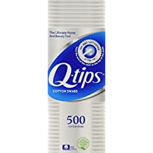 Q-tips Cotton Swabs, 500 Count (Pack of 2) by Q-Tips
