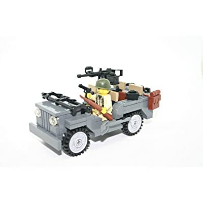 Modern Brick Warfare WW2 Willy Jeep Custom Kit: Toys & Games