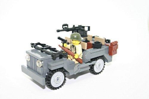 (Modern Brick Warfare WW2 Willy Jeep Custom Kit)