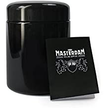 Masterdam Jars 250ml StashShield UV Glass Jar - Smell-Proof Ultraviolet Storage Stash Jar Container Refillable Tall Wide-Mouth