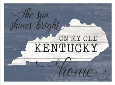 Old Kentucky Home Wood Wall Plaque