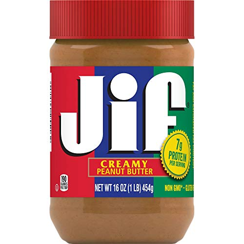 Jif Creamy Peanut Butter, 16 Ounces, 7g (7% DV) of Protein per Serving, Smooth, Creamy Texture, No Stir Peanut Butter 1