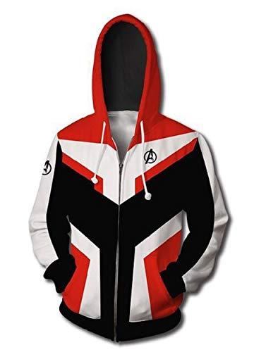 Horries Mens Superhero Halloween Cosplay Costume Hoodie Jacket Red ()