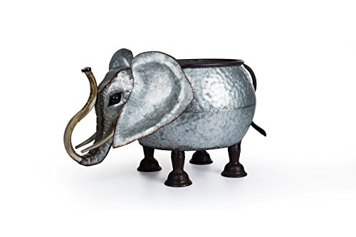 metal elephant planter