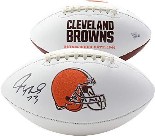 Joe Thomas Cleveland Browns Autographed White Panel Football - Fanatics Authentic Certified - Autographed - Football Autographed Brown