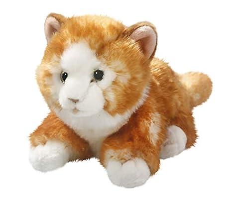 Gato de peluche tumbado (marrón aprox. 23 cm de Carl Dick: Amazon.es: Juguetes y juegos