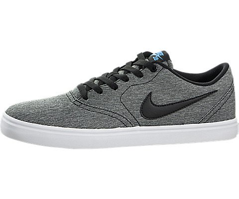 buy popular 5f312 46eb4 Galleon - Nike Men s SB Check Solarsoft Canvas Skate Shoe (12 D(M) US,  Grey Black Photo Blue Black)