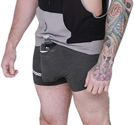 iViBED Mens Stash Spot Boxers with Hidden Pocket Speak Easy Style EDM Festival Apparel