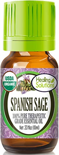 (Organic Spanish Sage Essential Oil (100% Pure - USDA Certified Organic) Best Therapeutic Grade Essential Oil - 10ml)