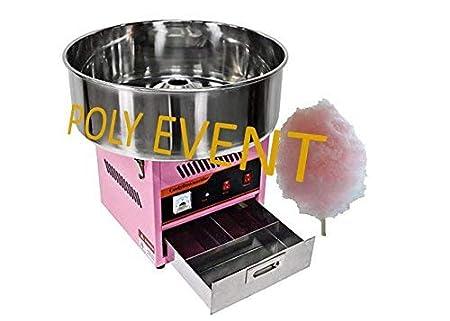 Poly Event máquina algodón de azúcar profesional con burbuja 950 ...