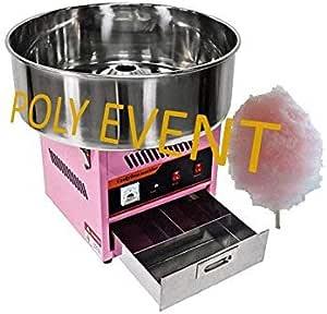 Poly Event máquina algodón de azúcar profesional sin burbuja 950 Watts cubeta 52 cm: Amazon.es: Hogar
