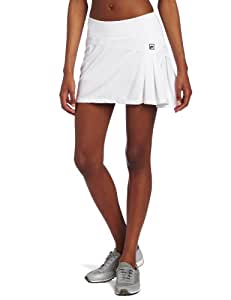 Fila Women's Collezione Pleated Skort (White/White, Large)