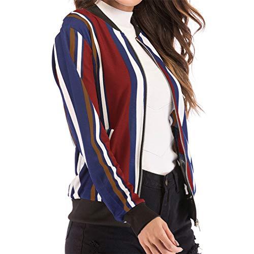Moda Base Hibote Casual S Outerwear Sports Mujer Flores xl Bola Blusas Chaquetas 7 Outfit Abrigos Otoño Impresión Primavera cvFIrFqX