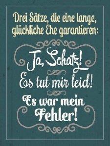 Sprüche Schild On The Wall 135x18 Cm Glückliche Ehe 016 Amazonde