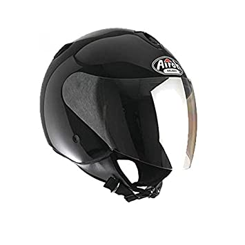 Moto Casco Jet Airoh Fly City FY11 Scooter Touring Casco Moto Mujer y Hombre Negro metal