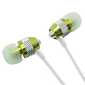 Super Bass Noise-Isolation Metal 3.5mm Stereo Headset/Earbuds for Xiaomi Redmi Note 2/Redmi 2 Prime/Mi 4c (Green) - w/Mic + MYNETDEALS Stylus