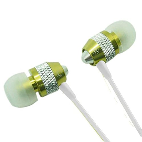 Stereo Earphone/Headsets with Mic for LG K10 (Green) - 1