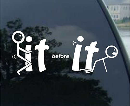 Crawford Graphix FCK it Before It Fcks You F it Funny Car Decal Window Bumper Sticker - Die Cut Decal Bumper Sticker for Windows, Cars, Trucks, Laptops, Etc. (8