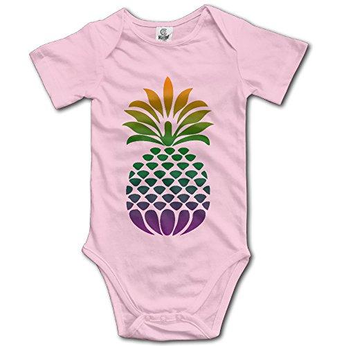 Pineapple Baby Boys/Girls Unisex Short Sleeve Bodysuit Set