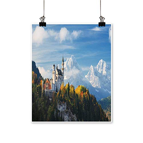 (Wall Decor Germ y The Famous neuschw Stein Castle in The backgroun Snowy Wall Art for Bedroom Home,28