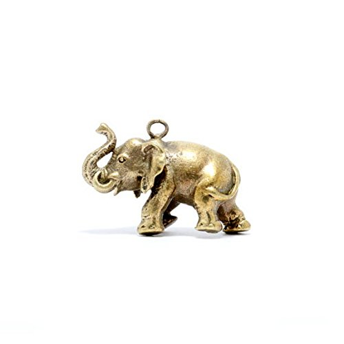 White Jade Elephant Pendant (Thai Elephant Amulet Pendant Power Bring Wealth Money Richness Health Success with Gift Amulet White)