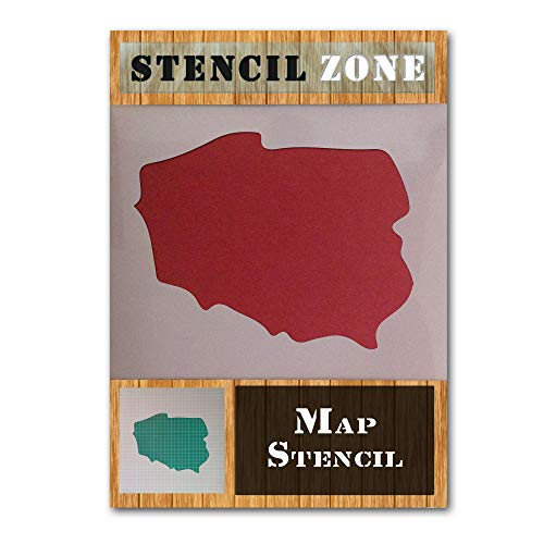 Poland Map Polska Country Flag Mylar Airbrush Painting Wall Art Crafts Stencil -M