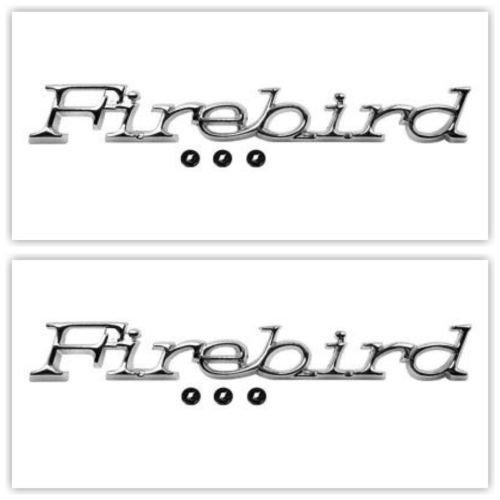 OER 486904-2 1971-81 Pontiac Firebird Front Fender Emblem Pair/Set Official GM