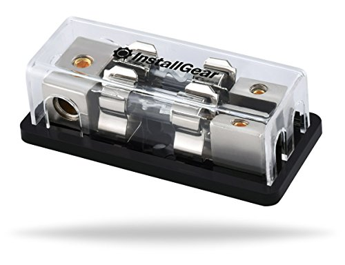 InstallGear 4/8 AWG Gauge AGU Fuse Holder Distribution Block 4 Gauge In to 8 Gauge Out with 60A Fuses