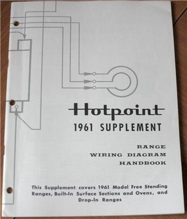 Hotpoint 1961 Supplement Range Wiring Diagram Handbook (Form 38-3025 8-61, This Supplement Covers 1961 Model Free Standing Ranges, Built-In Surface Sections and Ovens, and Drop-In (Drop In Freestanding Range)