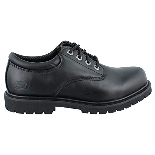 Skechers Men's, Cottonwood Elks Lace up Work Shoe Black 16 - Black Mens Slip