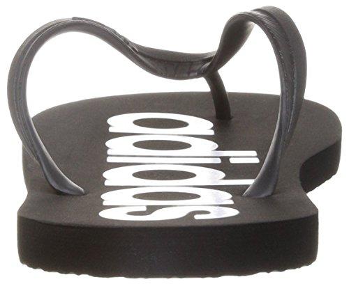 Chanclas adidas FLIPPER Negro / Blanco (44.5)