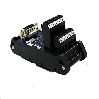 ASI 11001 26 to 12 AWG IMDS09F DIN Rail Mount Interface Module Cable to Wire Transition 9 Position Female D-Sub Connector to Screw Clamp Terminal Blocks 1.48 Length