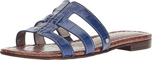 Sam Edelman Frauen Berit Slide Sandale Nautische Blue Suraze Shiny Croco Leder