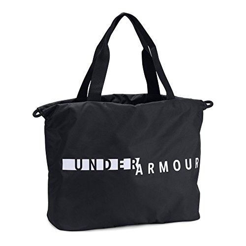 (Under Armour Women's Favorite Tote Bag, Black (002)/White, One Size)