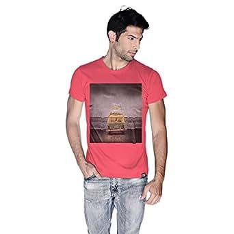 Creo Beach Van T-Shirt For Men - S, Pink