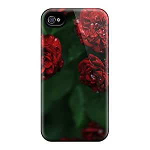 Scotansen Fashion Protective Flowers Red Flowers Case Cover For Iphone 4/4s