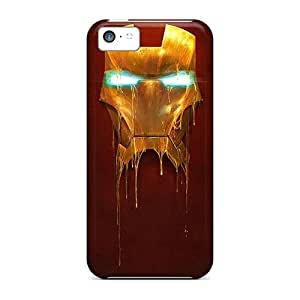JeffMclaren Case Cover Protector Specially Made For Iphone 5c Iron Man Mask
