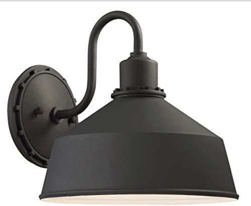 Minka Lavery Urban Industrial Outdoor Wall Light 71242-66 Mantiel Exterior Wall Lantern, 1-Light 100 Watts, Black
