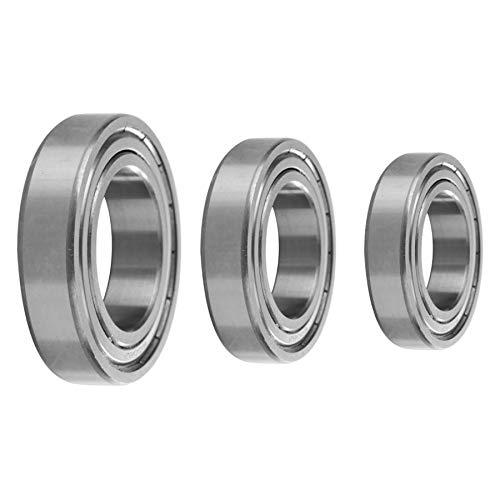 - Fevas 1 Pcs Deep Groove Double Shielded Bearing Steel Ball Single Column Bearing Bearing axial - (Outer Diameter: 50x80x16mm)