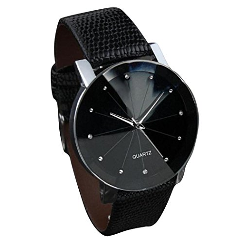 Winhurn Luxury Quartz Military Stainless Steel Dial PU Leather Band Men Wrist Watch (Polar Blood Pressure Watch)